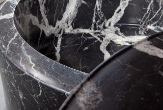 dettaglio del marmo Nero Marquinia