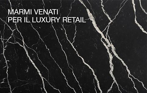 Veined marble in Luxury Retail